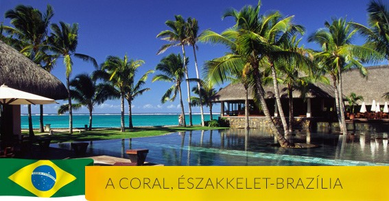A Coral üdülőhely Északkelet-Brazíliában