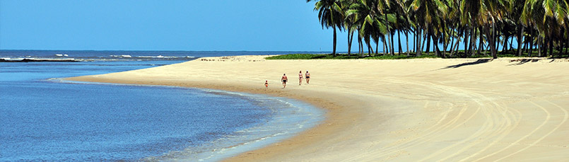 Trairi beaches on the map in Northeast Brazil
